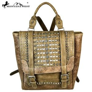 Montana West Slanted Stud Collection Backpack